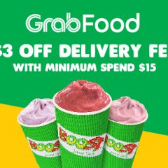 Order Through GrabFood now to Enjoy $3 off Delivery Fee!
