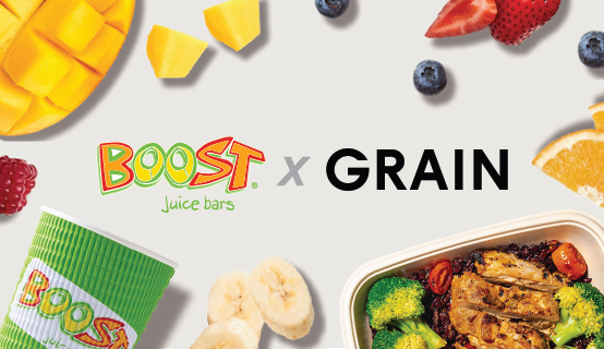 Boost is Partnering with Grain Singapore Now!