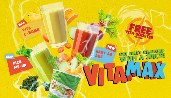 Get Fully charged with our VitaMAX Juices!